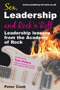 Sex, Leadership and Rock'n'Roll - Acclaimed by Tom Peters - click on the cover to find out more at Amazon.ca