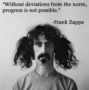 Frank Zappa deviation from the norm