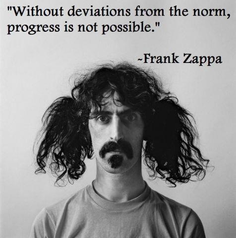 frank zappa showing how to deviate from the norm. Black Bedroom Furniture Sets. Home Design Ideas