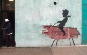 Banksy shaking up routines