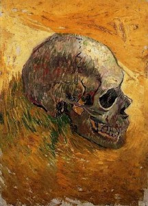 Skull van gogh