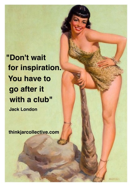 Quote from Jack London on inspiration and creativity
