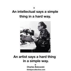 Charles Bukowski quote on intellectuals