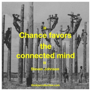 Steven Johnson quote on creativity and connected minds