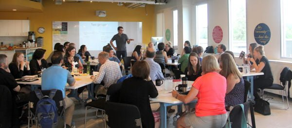 Ben Weinlick leading innovation workshop
